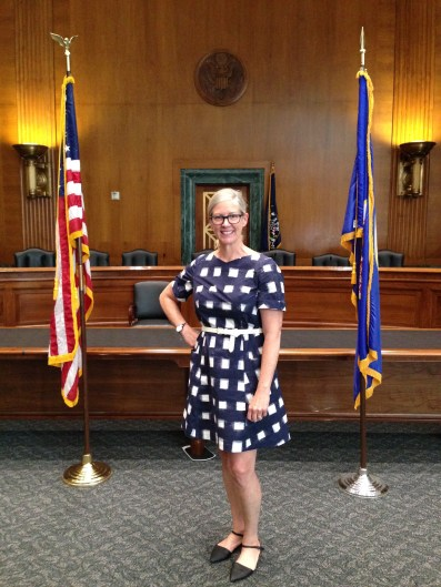 Trying to look presentable for a visit with our Senator and stay cool for touring at the same time. This dress worked great!