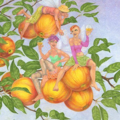 Cider Apple Fairies - detail 1