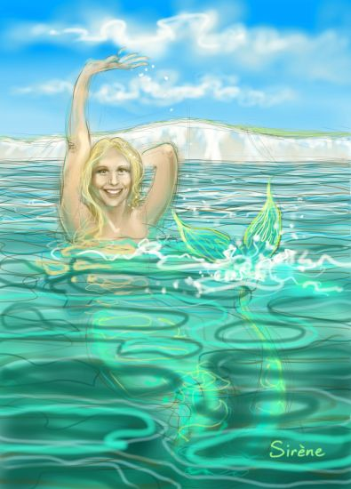 Chloe McCardel, mermaid