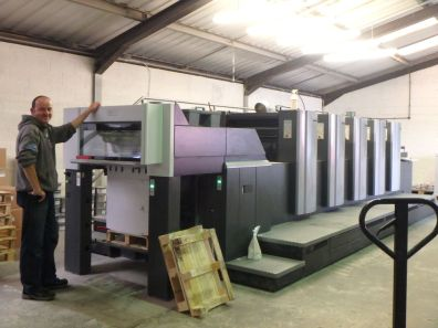 Huge machine that will be printing the warpping paper