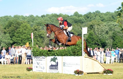 Essex Horse Trials veteran Buck Davidson returned for the Invitational Derby Cross at Moorland Farm with Victor BZ.