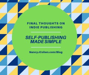 Self-Publishing Conclusion