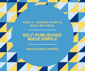self publishing part 3