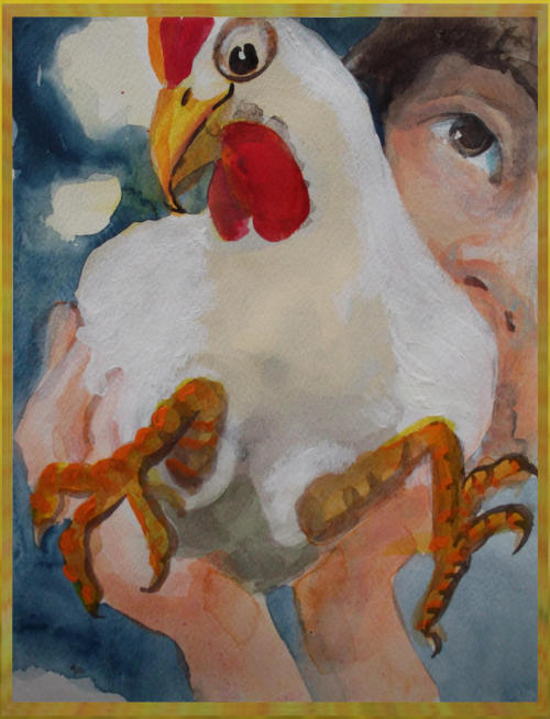 From the children's book 'Chickens In Birthday Suits'
