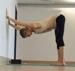 Yin Yoga at the Wall - Downdog at Wall