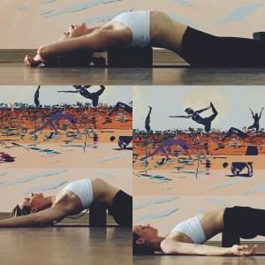 Yin Yoga - Meridians - Block down the spine