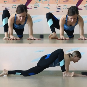 Forearms down + Knee to side