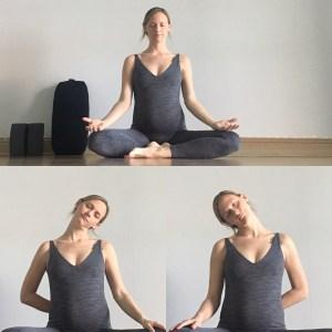 Sukhasana / Neck Release - Prenatal Yin Yoga Sequence