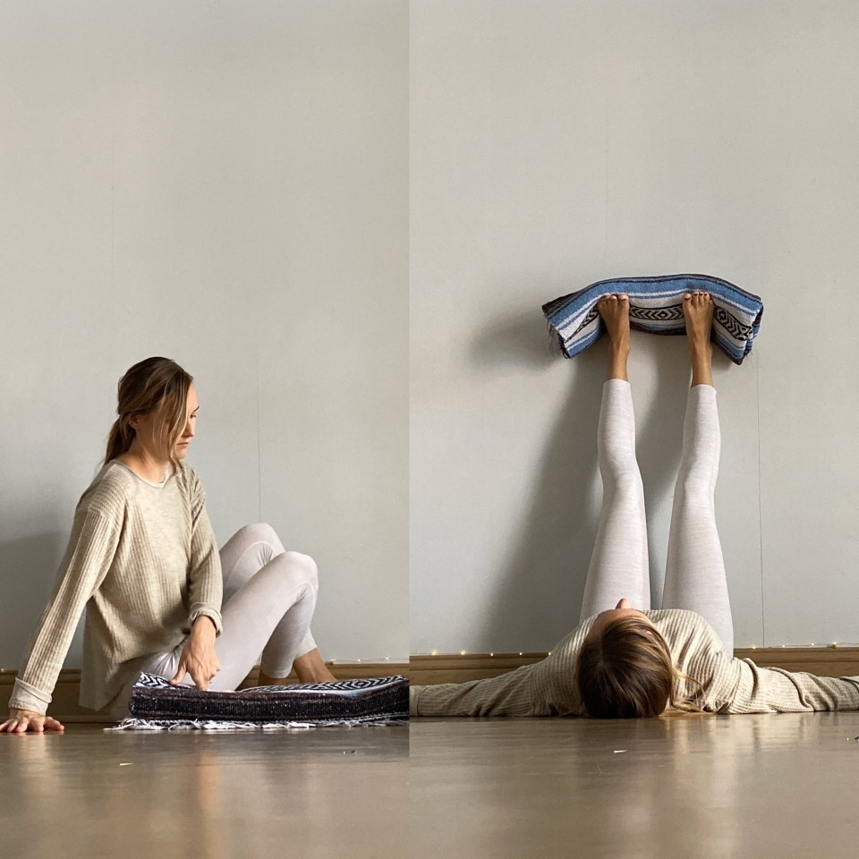 Yin Yoga Sequence - Journey to Frog Pose - Legs Up the Wall