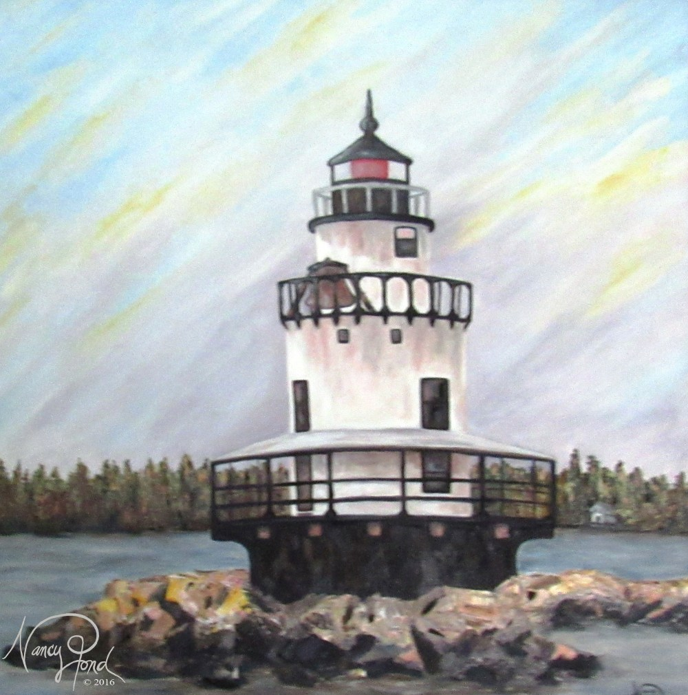"""Lighthouse -- Portland, ME"" Oil on MFB (2010 24x24 -- In Private Collection)"