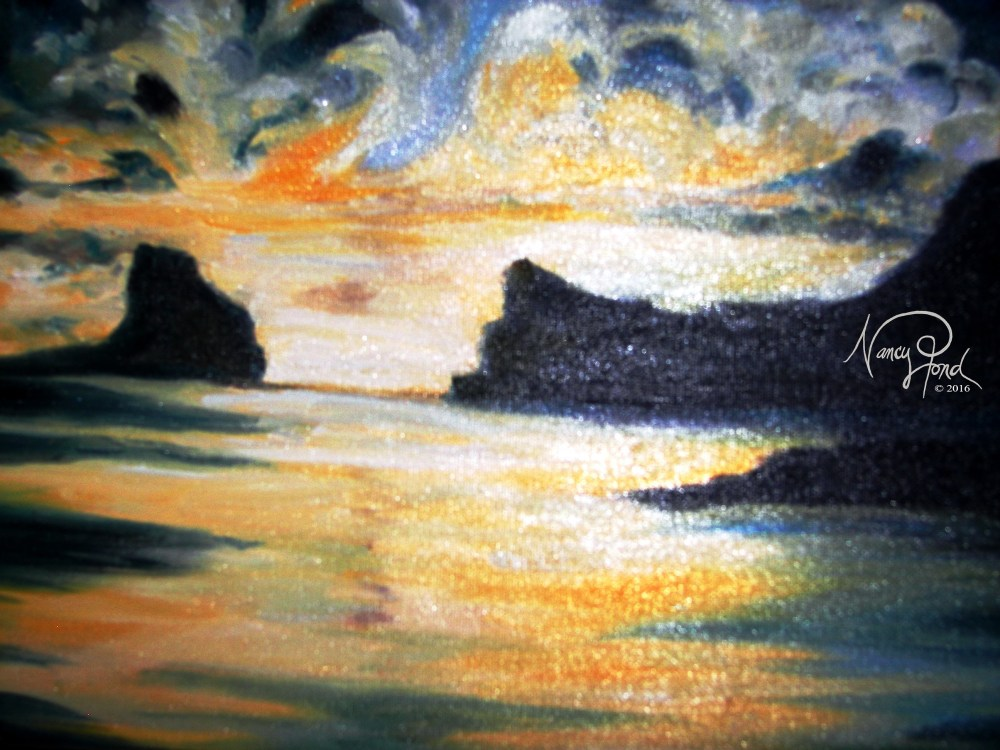 """Ocean Sky 2"" Oil on Canvas (2009 11x14 -- In Private Collection)"