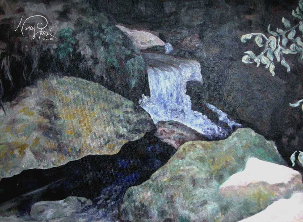 """Small Falls - Merrimack River, NH"" Oil on Canvas (2011 17x14 -- In Private Collection)"