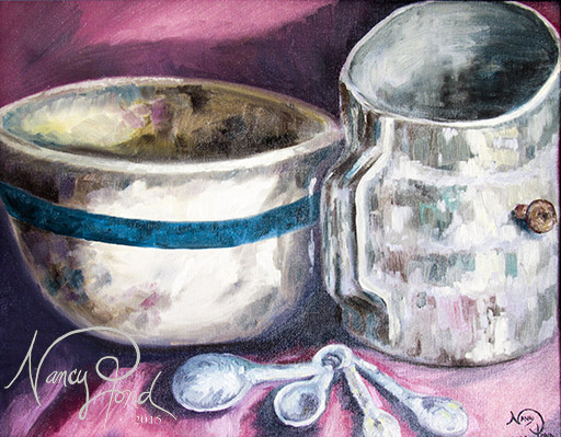 """""""Before Baking"""" Oil on Canvas (2009 11x14)"""