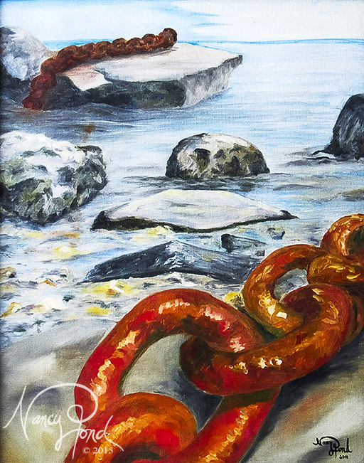"""""""Lost Chain"""" Oil on Canvas (2010 17x14)"""