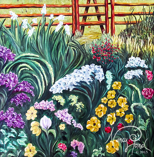 """Meadow Gate"" Oil on MFB (2010 24x24)"