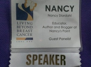 The Living Beyond Breast Cancer 2014 Fall Conference, My Wrap-up