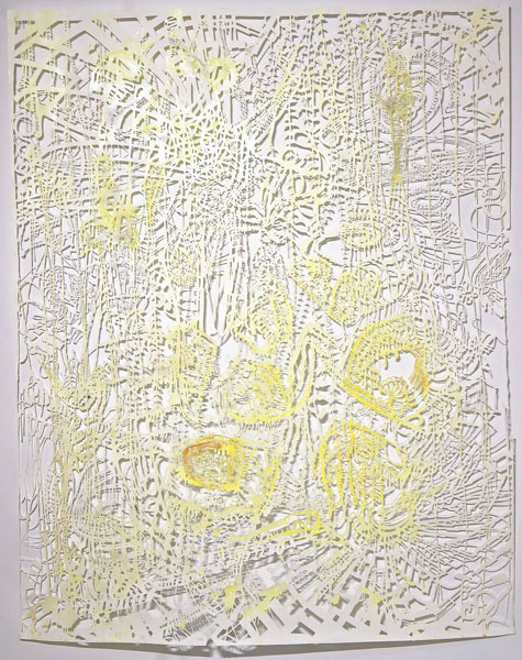 02b_w_Chris_Natrop-Yellow_Tempest_Twist_2015_90in_x_72in_Watercolor_Metal_Powder_Glitter_Paper