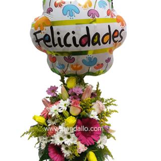Arreglo floral felicitaciones