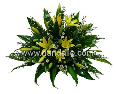 Tributo Floral para funeral amarillo