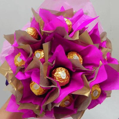Ramo de chocolate Ferrero