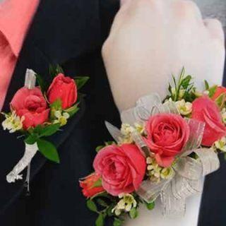 Pulsera de mini rosas para novia