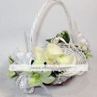 canasta de flores para boda