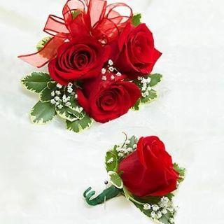 Pulsera de rosas rojas para novia