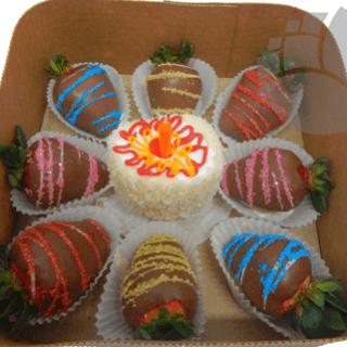 Arreglo frutal cumpleaños