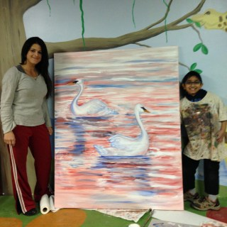 Swans - With My Art Teacher and Swans
