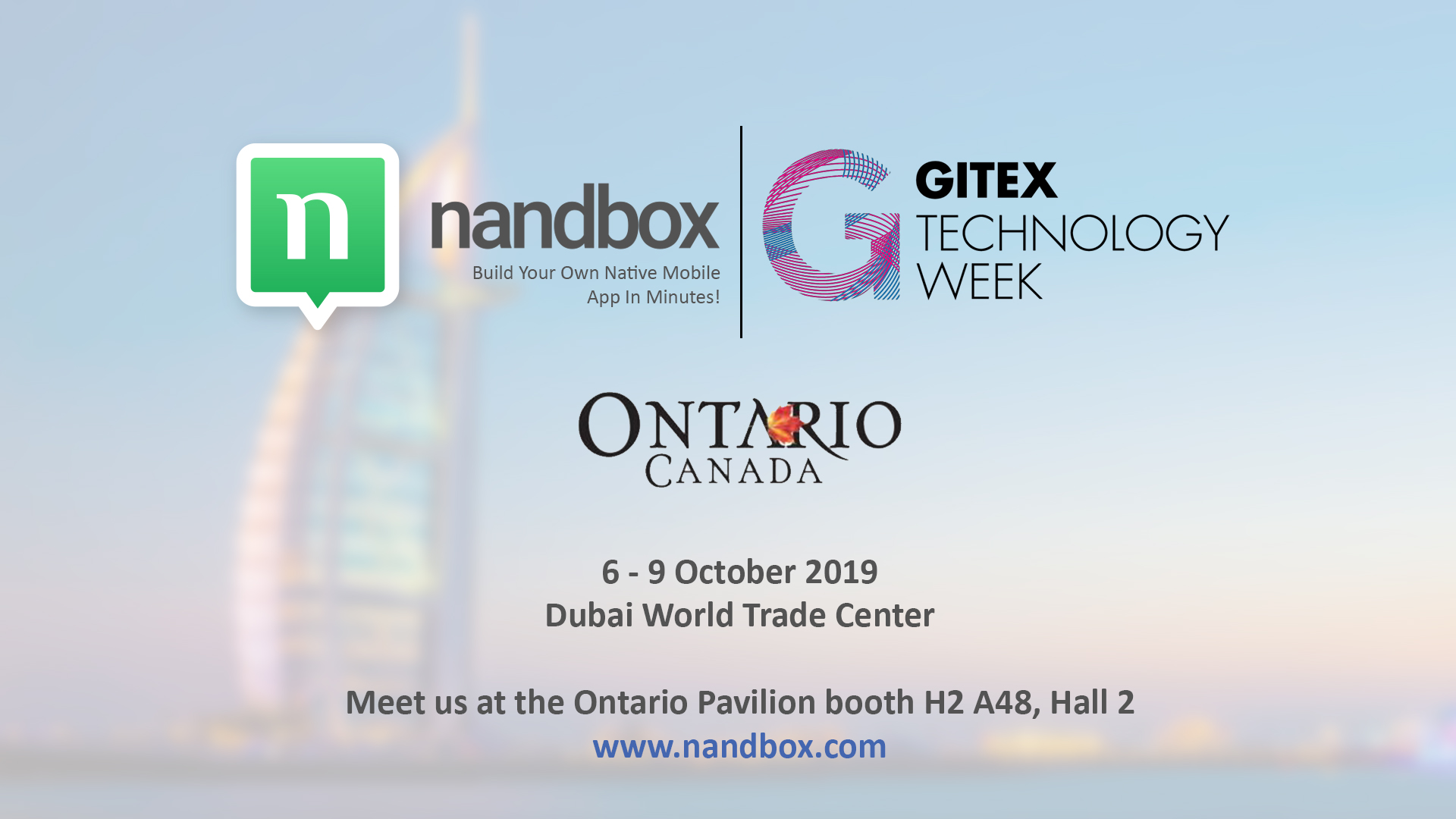 Nandbox Exhibits at GITEX Technology Week 2019