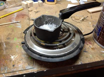 heating the lead alloy