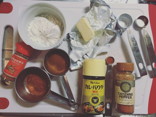 Ingredients for Japanese Curry Roux