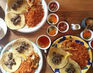 lunch plates at la casita daikanyama