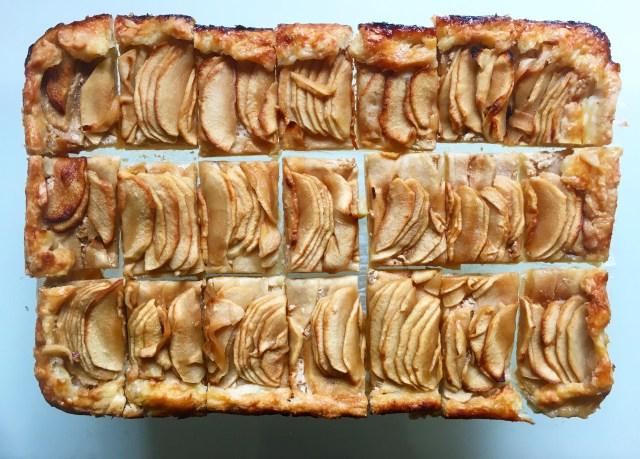 apple galette sweet tahini filling