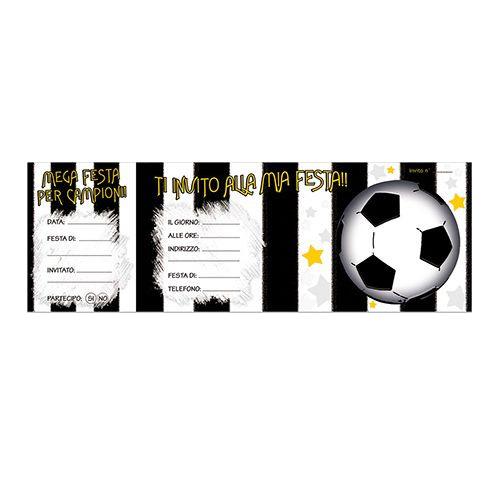 Blocco Da 15 Biglietti Bigliettini Invito Inviti Compleanno Festa Bianconero Juventus Formato Assegni 341753 631