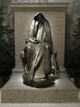 365-9 Augustus Saint-Gauden's Adams Memorial at The Smithsonian Museum of Art