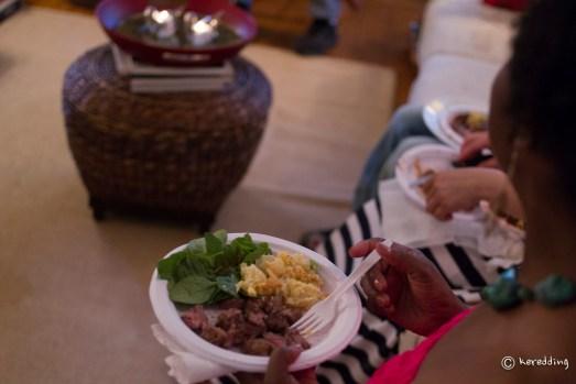 Hostess, first plate.
