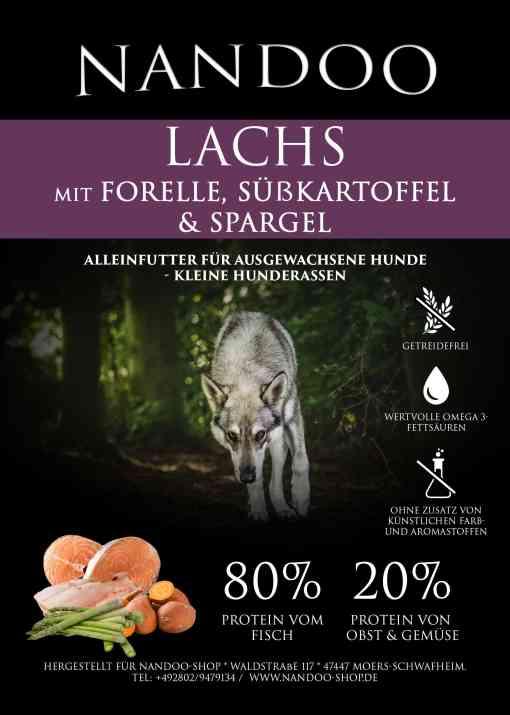 LGF Lachs mit Forelle, Süßkartoffel & Spargel (6kg)