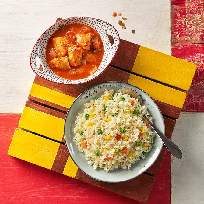 Saucy Tenders with Mediterranean Rice at RM13.90
