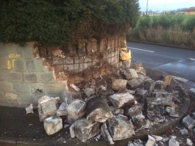 Emergency Call Out for Damaged Wall