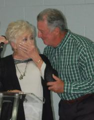 Joyce Sumners did not know her son Tom was present at the UNITE event until he walked up and kissed her cheek immediately after she was named Volunteer of the Year.