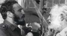 "Fidel Castro and Earnest Hemingway in Havana May 15, 1960, 14 months before Hemingway's death."""