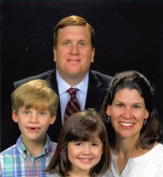 Dr. Tim Prather, his wife Cheryl and their children, Jack and Caroline