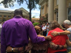Prayers and expressions of support from the community to law enforcement and first responders