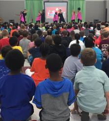 NAES K-6 students learn about the dangers of tobacco use.