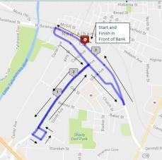 Tallahatchie River Run 5K route