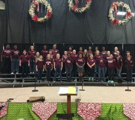 The New Albany Elementary School Chorus performed at Celebration Village on Thursday, October 20