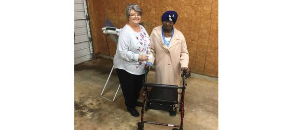 103-year-old voter, Ms Macie Ferrell