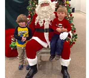 Santa at Christmas at the Museum