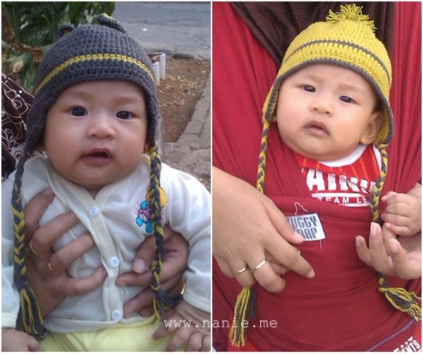 topi rajut bayi